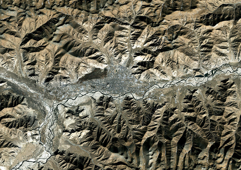 Lhassa, satellite image