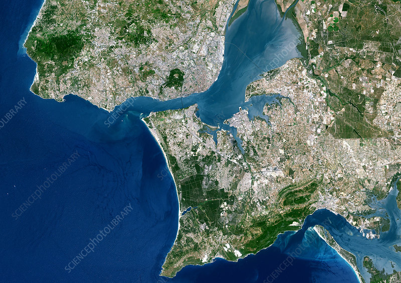 Lisbon, satellite image