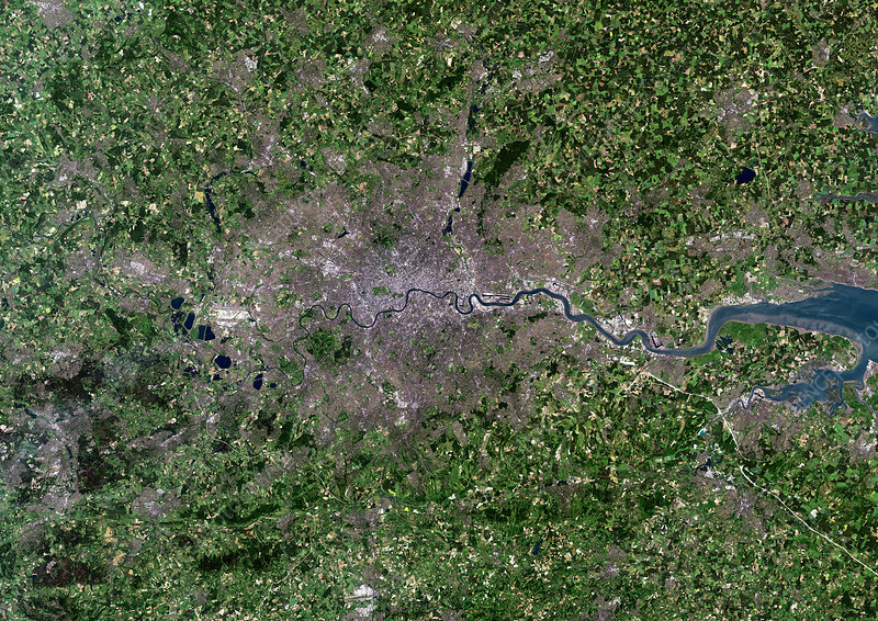 Greater London, satellite image
