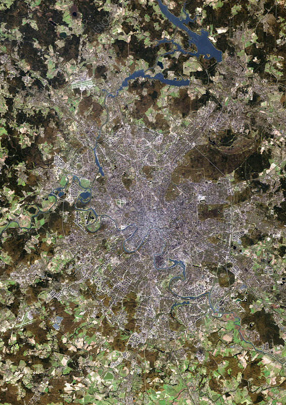 Moscow, satellite image
