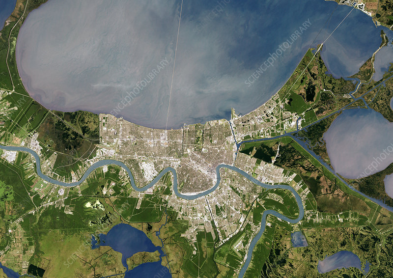 New Orleans, satellite image