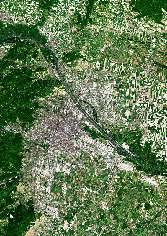 Vienna, satellite image