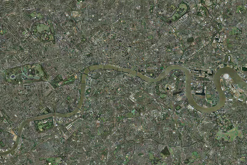 London, aerial image