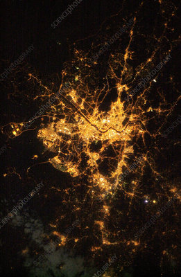 Seoul, South Korea, at night