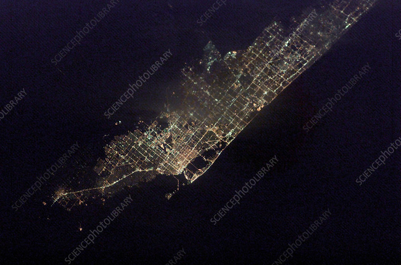 Miami, Florida, at night