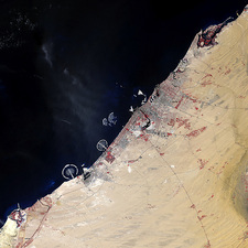 Dubai, 2006, satellite image
