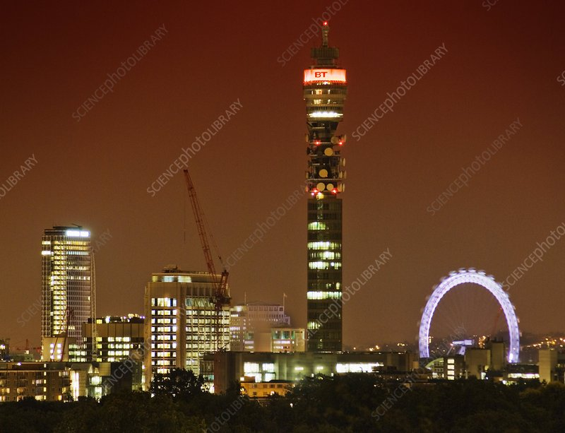 BT tower and the London Eye