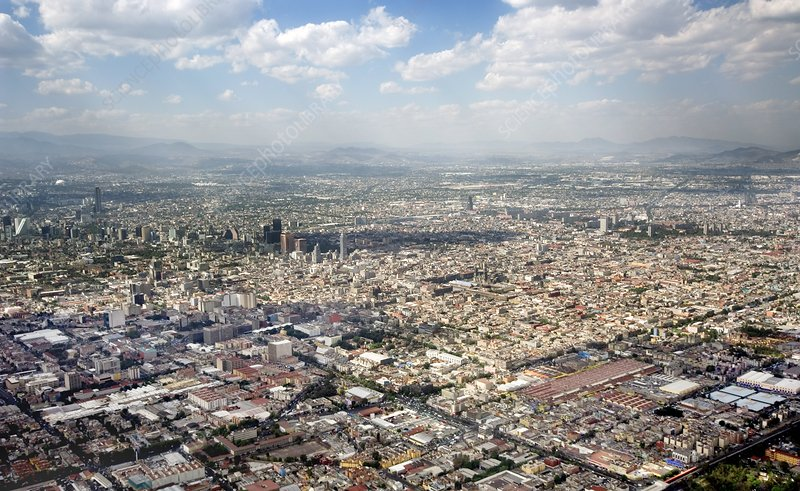 Mexico City, aerial photograph