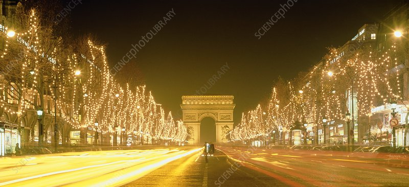 Christmas lights on the Champs Elysees, Paris