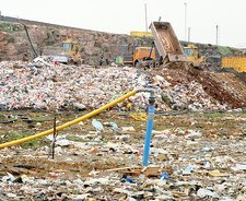 Landfill site which generates electricity from gas