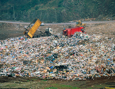 Landfill site in Leicestershire, England