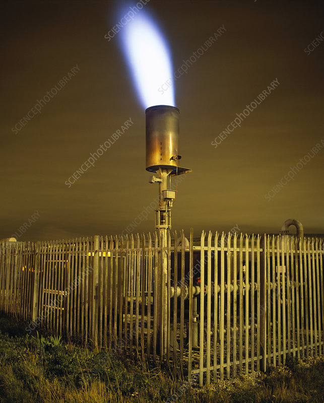 Landfill gas flare