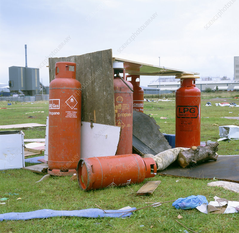 Dumped gas canisters
