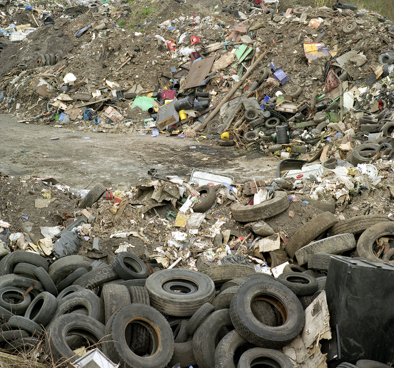 Illegal rubbish dump