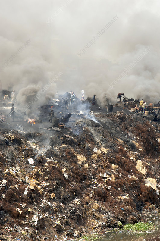 Burning rubbish, Nigeria