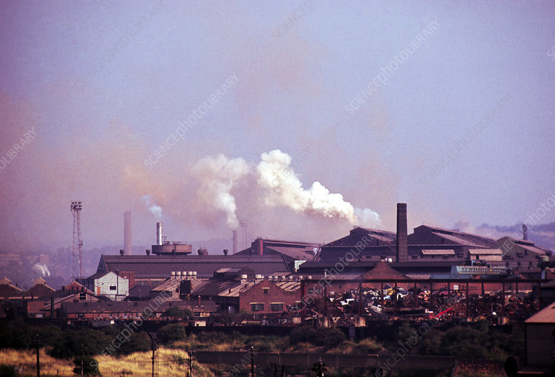 Industrial landscape of Sheffield, Yorkshire