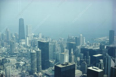 Pollution over the city of Chicago