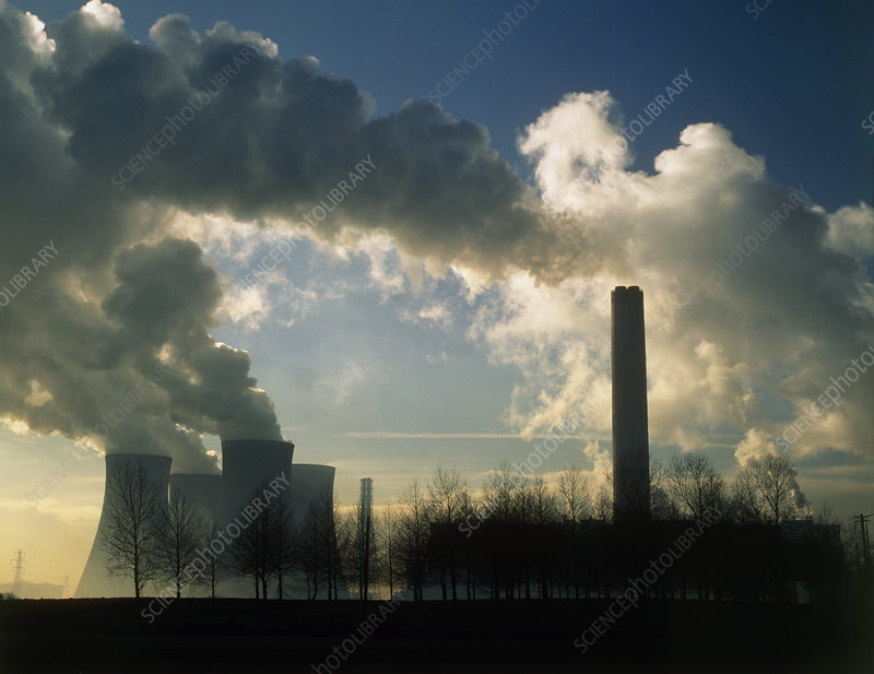 Pollution from a coal-fired power station