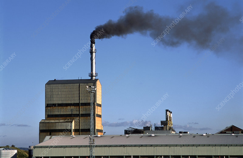 Air pollution from a paper mill