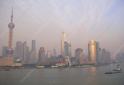 Air pollution over Shanghai, China