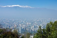 Air pollution over Santiago, Chile