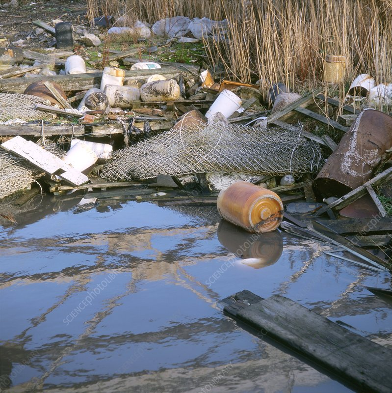 Polluted river, UK