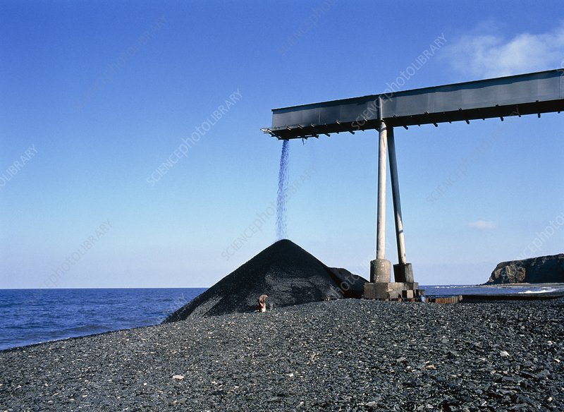 Pollution:coal waste being dumped in North Sea