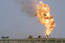 Oil well fire