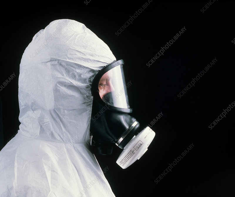 Person wearing protective clothing