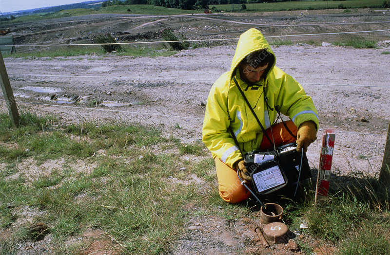 Methane testing at refuse landfill site