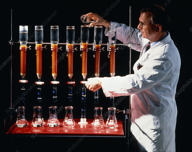 Scientist analysing water pollution in laboratory