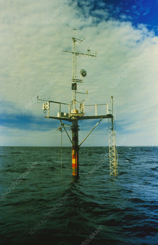 Air/sea pollution monitoring buoy