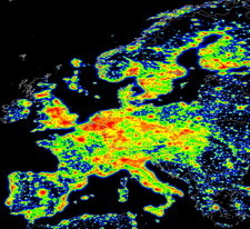 European light pollution