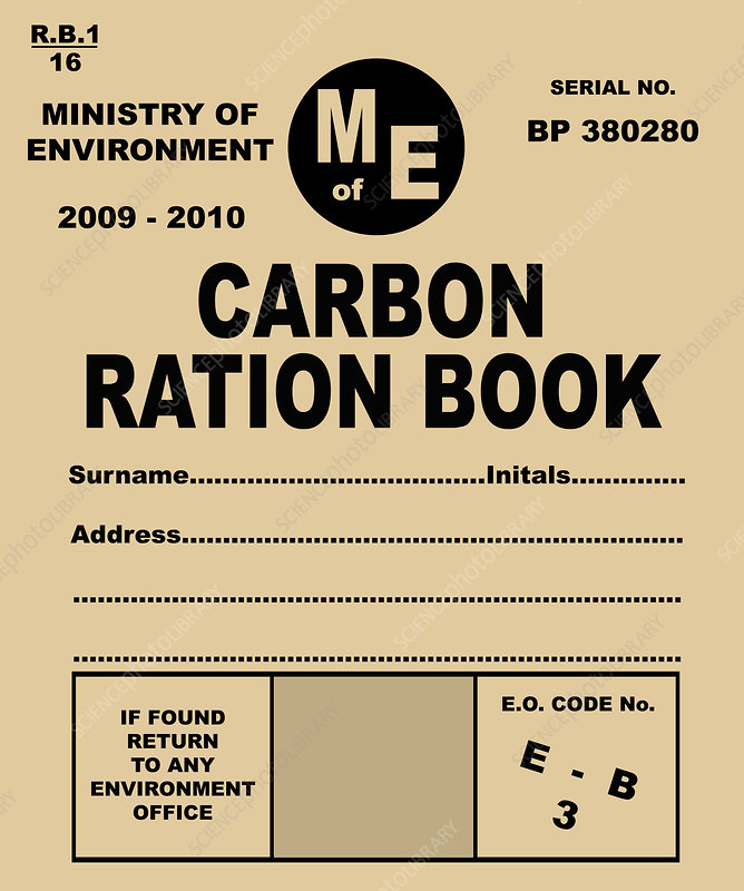 Carbon rationing, conceptual image