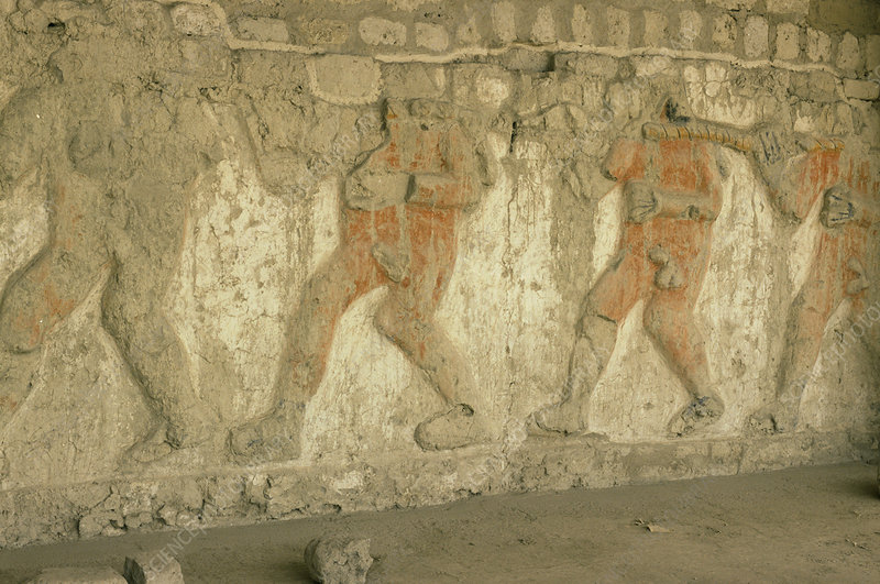 Moche wall sculptures, Peru