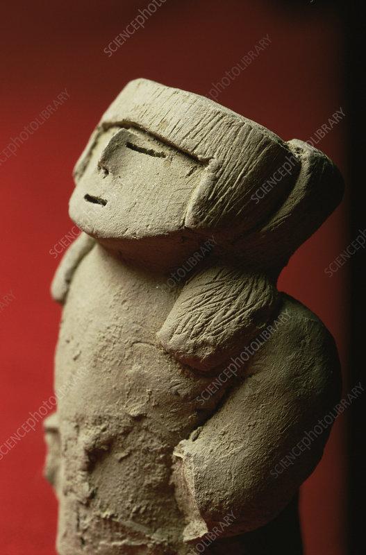 Idol found at Caral, Peru