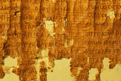 Ancient papyrus scroll