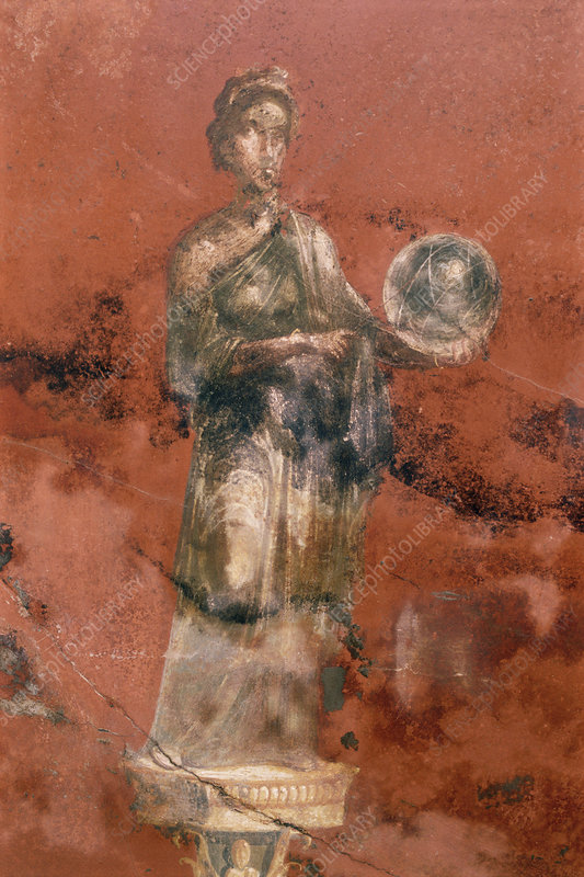 Fresco of the muse Urania, Pompeii