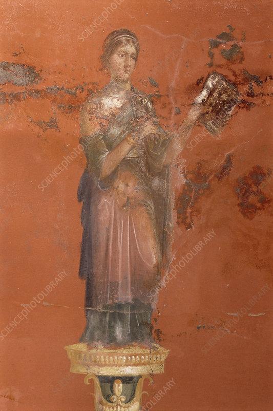 Fresco of the muse Clio, Pompeii