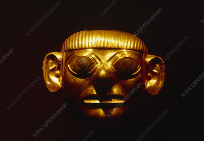 Gold mask from the Lord of Sipan's tomb
