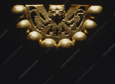 Gold ornament from Lord of Sipan's tomb