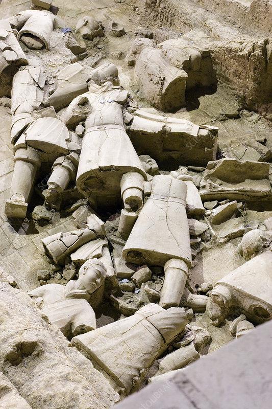 Terracotta warrior remains