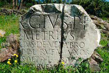Latin inscription, Via Appia