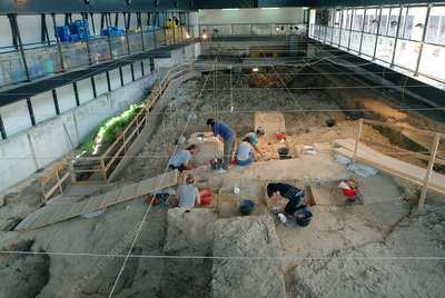Excavation of a prehistoric site