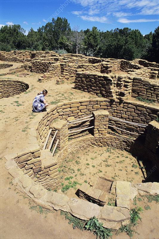 Anasazi Native American city ruins