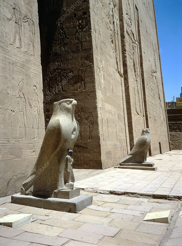 Ancient Egyptian statues of Horus