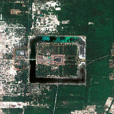 Angkor Wat temple, satellite photo