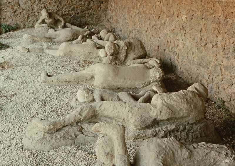 Victims of Mt. Vesuvius eruption