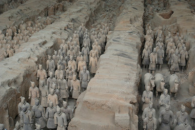 Tomb of Terra-cotta warriors near Xian