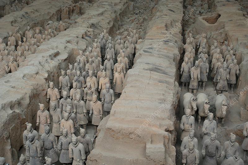 Tomb of Terra-cotta warriors near Xian